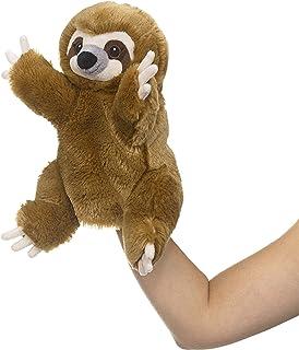 Eco Pals 树懒木偶,野生动物艺术家,填充动物毛绒木偶玩具 11 英寸,环保,刺绣*和鼻子,由 * 消费后和再生材料制成