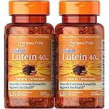Puritan's Pride 普丽普莱 叶黄素软胶囊,40毫克,含玉米黄质,有益于眼部,240粒(2瓶装,120粒)