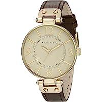 Anne Klein 109168IVBN 圆形表盘皮革表带手表