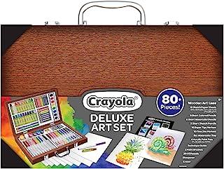 Crayola 绘儿乐 木制艺术套装 超过 75 件 儿童礼物 8 岁 9 岁 10 岁 11 岁
