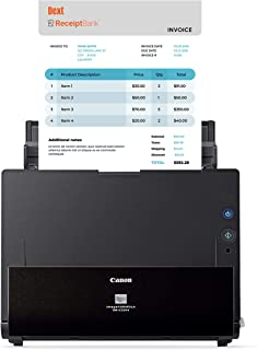 Canon 佳能 imageFORMULA DR-C225 II 扫描仪 小型商务版 由收据银行驱动 自动数据输入 支持 QuickBooks 和其他主要会计和簿记软件