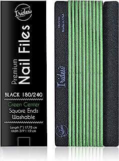 Iridesi 专业*锉 黑色可洗*锉 7 英寸长 方形端部锯齿边缘 12 个*锉 180/240