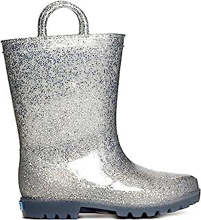 ZOOGS 女童闪光雨靴 适合女孩和幼儿