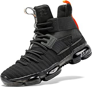 ASHION 儿童篮球鞋男孩运动鞋女孩运动鞋舒适高帮篮球鞋适合男孩(小童/大童款)