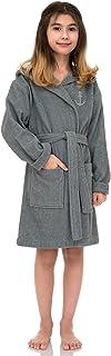 TowelSelections 女孩长袍,儿童连帽棉绒浴袍,土耳其制造