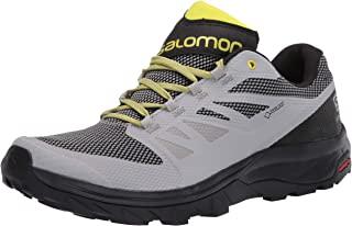 SALOMON 男士 Outline GTX Track and Field Shoe,黑色,中号