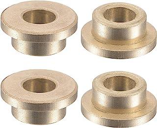 uxcell 法兰套筒轴承 6mm 孔径 10mm 外径 6mm 长 14mm 法兰直径 2mm 法兰厚度烧结青铜自润滑衬套 4 件