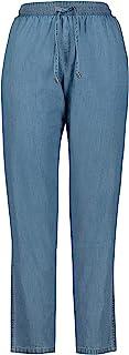 GINA LAURA 女士浅色牛仔布带抽绳裤