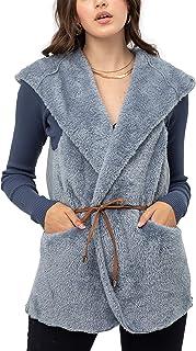 FASHION BOOMY 女式超大羊皮泰迪熊夹克 - 人造毛皮连帽衫 拉链 - 常规和加大码