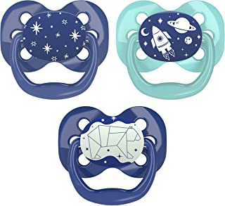 Dr. Brown's Advantage 婴儿安抚奶嘴,夜光,0-6个月,蓝色,3只装