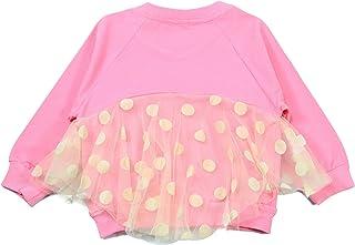 女童长袖 T 恤,薄棉套头衫,适合小女孩和公主