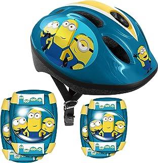 印章头盔 + 小黄人 2 肘部/护膝 MI290507,黄蓝色