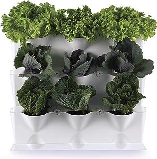 Minigarden 垂直1套适用于9种植物,可扩展的垂直花园,地板上可独立放置或安装在墙壁上,创新的排水系统,使用寿命长 Ancho 67*20 Altuira33,5 白色 MGSET1WH