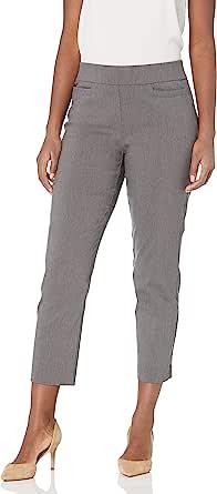 Alfred Dunner 女式比例短裤 Allure 修身裤 灰色 18 Petite
