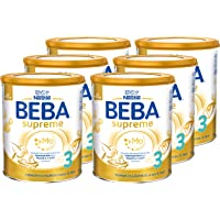 Nestlé BEBA雀巢贝巴 SUPREME 3段婴儿后续奶粉:10个月以上婴幼儿奶粉,6袋(6 x 800g)