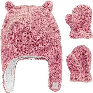 Carter's 婴儿毛绒耳罩无檐小便帽和连指手套套装 - 粉色,0-9 个月