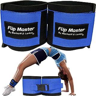 Flip Master 踝带翻滚训练器   体操和啦队设备适用于背部翻转/手弹簧形式   可调节表带适合女孩、男孩和成人   适合欢呼、舞蹈和体操练习