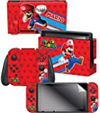 """任天堂开关皮肤和屏幕保护膜套装 - *马里奥 Evergreen """"Super Mario""""- 任天堂开关"""