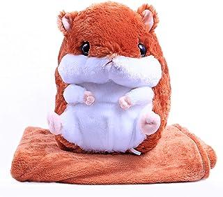 ETCBUYS 婴儿毯动物枕头 - 柔软可爱填充动物枕头玩具,带婴儿保暖羊毛毯 - 装饰枕头毯,适用于卧室、育儿室、游戏室(填充物枕头床头)