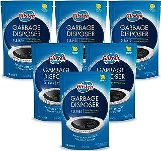 Glisten 泡沫清新除味剂,去除和清洁积聚污,柠檬香味,蓝色,4.9盎司(140克)*6袋,每袋可用4次