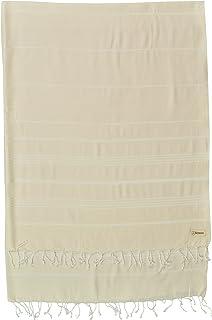 "Bersuse * 纯棉 - Anatolia XL 毯子土耳其毛巾 Pestemal - 浴巾沙滩围巾 - 床上用品或沙发,桌布或野餐垫 - 条纹 - 154.94 X 208.28 厘米,父母 天然 61 x 82""/X-Large ANA..."