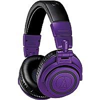 Audio-Technica 铁三角 ATH-M50xBTPB 无线蓝牙头戴式耳机 紫色/黑色