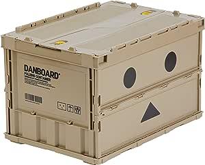 TRUSCO NAKAYAMA Danbo 轻薄折叠式箱子,50L(带锁盖),TR-C50B-A-DNB(日本进口) [Amazon.co.jp Limited]