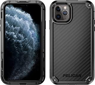 Pelican 派利肯 iPhone 11 Pro Max 手机壳,防护壳 - *级跌落测试 - 带 Kevlar 品牌纤维,TPU,聚碳酸酯保护套,适用于 Apple iPhone 11 Pro Max (黑色)