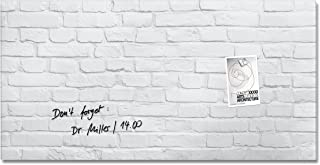 Sigel GL144 Glas-Magnetboard/Magnettafel artverum Design White-Klinker, 91 x 46 cm - weitere Designs/Größen