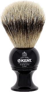 Kent BLK4 剃须刷,手工制作银尖獾毛和黑色底剃须刷,适用于剃须膏和剃须皂,1777 年以来肯特豪华剃须。英国制造