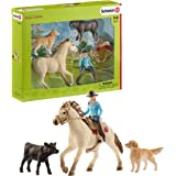Schleich 思乐 42419 农场世界玩具套装 - 西方骑马,3 岁以上