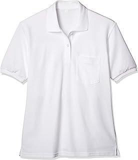 [猫] 女式短袖polo衫 白色 素色 制服 学生 学校 LB576082