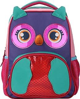 Sarhlio 幼儿背包可爱轻便耐用 600 旦涤纶防水书包适合幼儿园 2-6 岁猫头鹰(TB13C1)