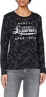 Superdry 极度干燥 女士 Black Out L/S 上衣 T 恤