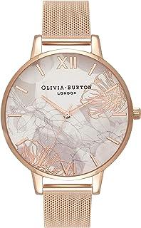 Olivia Burton 抽象花卉白色表盘女士手表 OB16VM15