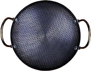 小炒锅 10 英寸(约 25.4 厘米),不锈钢酒精热锅,露营炉烹饪锅,圆形擦伤盘,四川食物炒锅(尺寸:20.3 厘米)