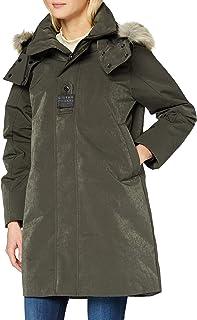 G-STAR RAW 女式 Tech Pdd HDD 人造毛皮长夹克