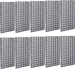OBANGONG 10 件黑色水族箱分隔托盘塑料网格分离板分隔板耐用过滤网格分隔板适用于混合品种