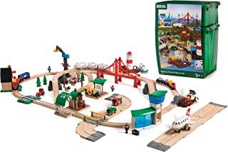 BRIO World 33766 儿童玩具 — 大型BRIO World 优质套装 塑料盒 铁路玩具