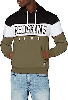 Redskins 男式 Eklec Skyline 连帽运动衫 卡其色/白色/黑色 L