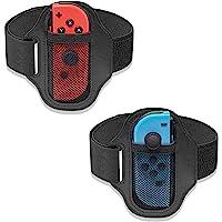 [2 件装] 适用于 Nintendo Switch Ring Fit Adventure,FANPL 可调节弹性腿带适…