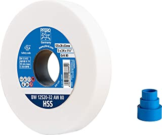 PFERD 砂轮,125 x 20 x 32 毫米,规格 HSS,颗粒尺寸 80,装饰凸缘白色,39009698 – 用于加工高合金钢带集成减径套(25/20/16 毫米)