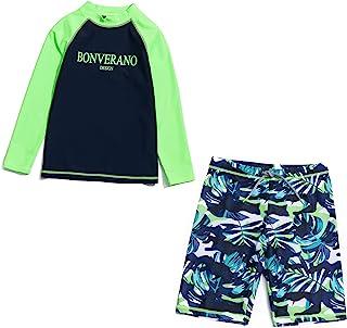 ADAVERANO 男婴两件式泳衣套装泳装*衣带帽子 UPF 50+