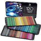 SJ STAR-JOY 120 支彩色铅笔,适用于成人着色书,高级着色铅笔套装,色彩鲜艳,适合艺术家绘画的完美节日礼物…