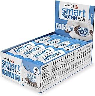 PhD 高蛋白低糖低碳水化合物曲奇和奶油,64克,12包 包装随机