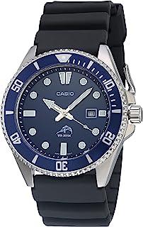 Casio 卡西欧 男式 潜水灵感 不锈钢石英树脂表带 黑色 25.6 休闲手表 (型号:MDV-106B-2AVCF)