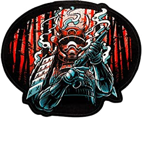 Ronin 的 BJJ GI Patch - Shogun Heishi Patch – 背包战士武士武士贴 – 优质和服和帆布袋贴 – 动画缝制贴纸,强烈颜色 – 夹克和衬衫