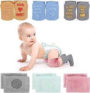 Baby Crawling 护膝防滑幼儿袜子婴儿暖腿袜 6 双装