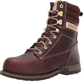"Caterpillar 女士 Clover 8"" 钢头工业靴"