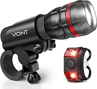Bike Light - Tools-Free Installation in Seconds - Headlight Compatible with: Mountain & Kids & Street Bicycles - Vont